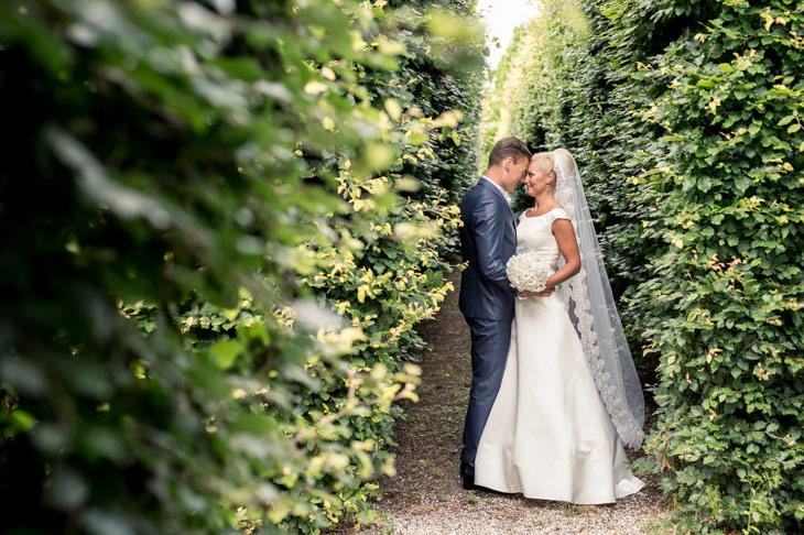 brudepar i sophienberg slotshave