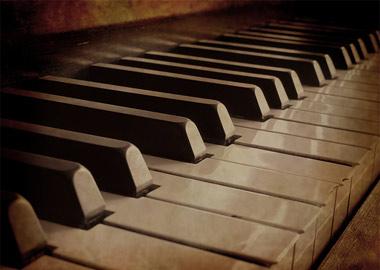Nærbillede af klaver