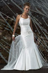 brudekjole havfrue tylskørt