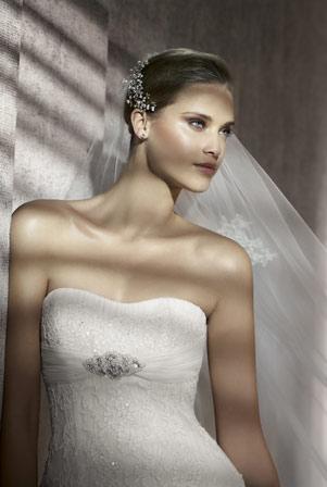 brudekjole corsaga med bling