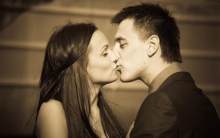 Romantisk brudepar