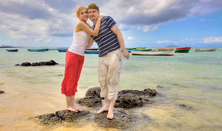 På bryllupsrejse til Mauritius