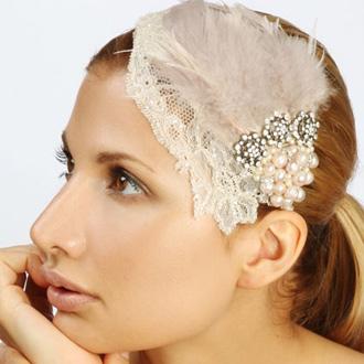 headpiece fjer perler