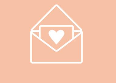 Kuvert med hjerte