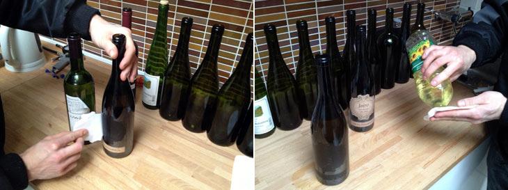 Flaskerne klargøres