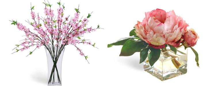 kunstige blomster kirsebærgrene og pæoner