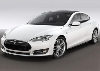 Hvid Tesla Model S