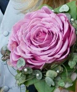 brudebuket stor rose