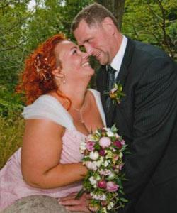 brudebuket bonderoser