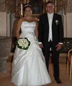 brudebuket hvide roser