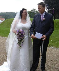 brudebuket roser lavendel lyng