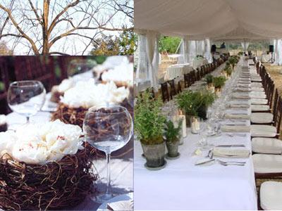 bryllup natur tema