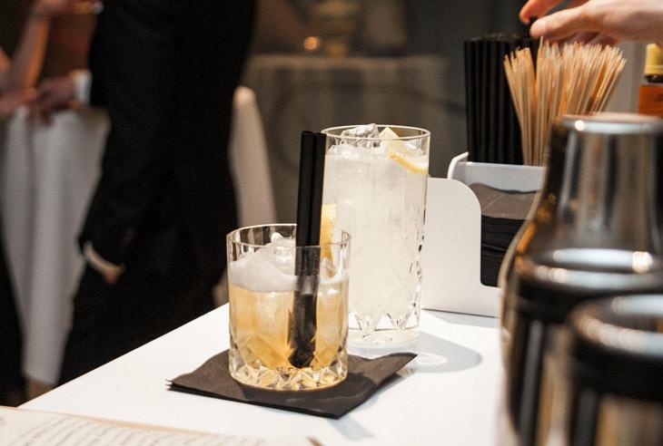 drinks i krystalglas