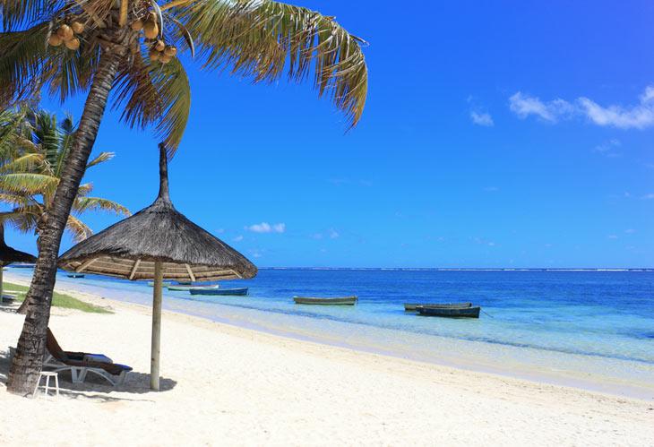 Strand på Mauritius
