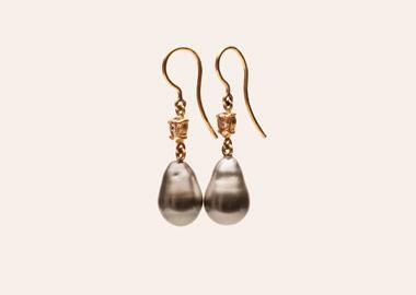 Flotte ørenringe med perler