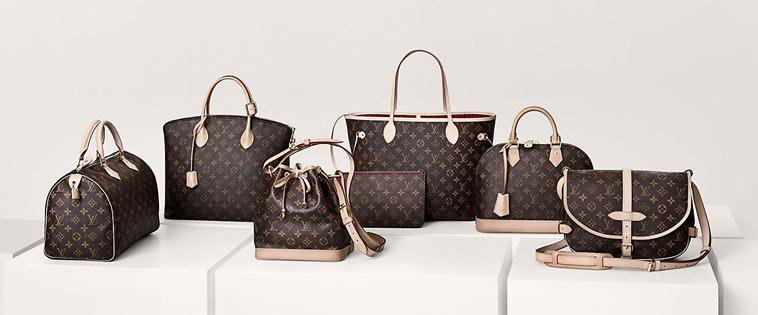 Louis Vuitton tasker med monogram
