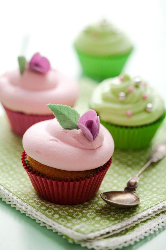 Cupcakes i pastel farver