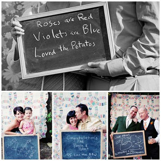 foto væg til bryllup