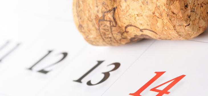 kalender og champagne prop