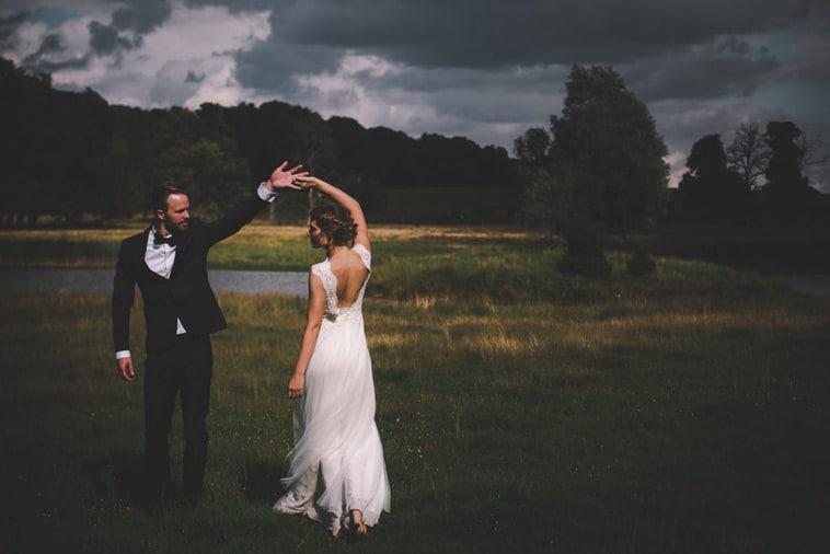 brudepar i naturen