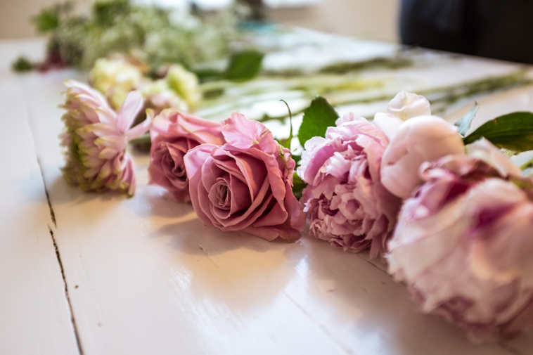 Blomster til DIY brudebuket