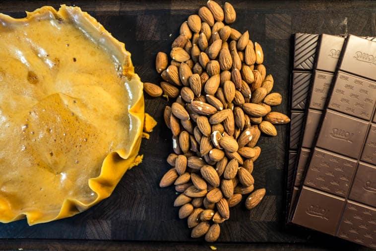 honeycomb og ristede mandler