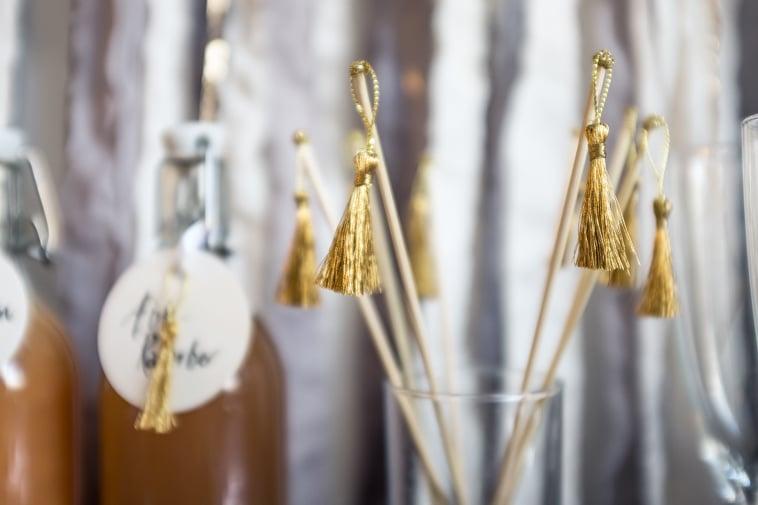 drinkspinde med guldkvaster