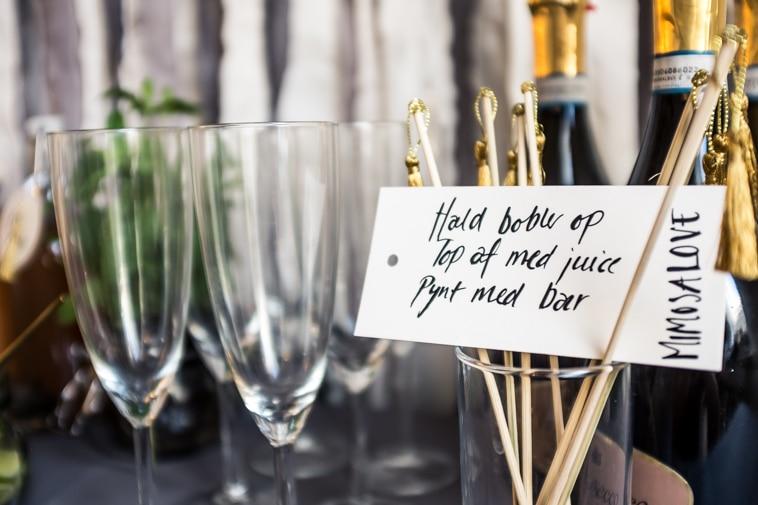 champagneglas og prosecco