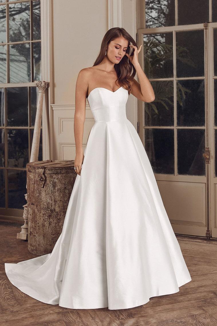 Brudekjole i silke