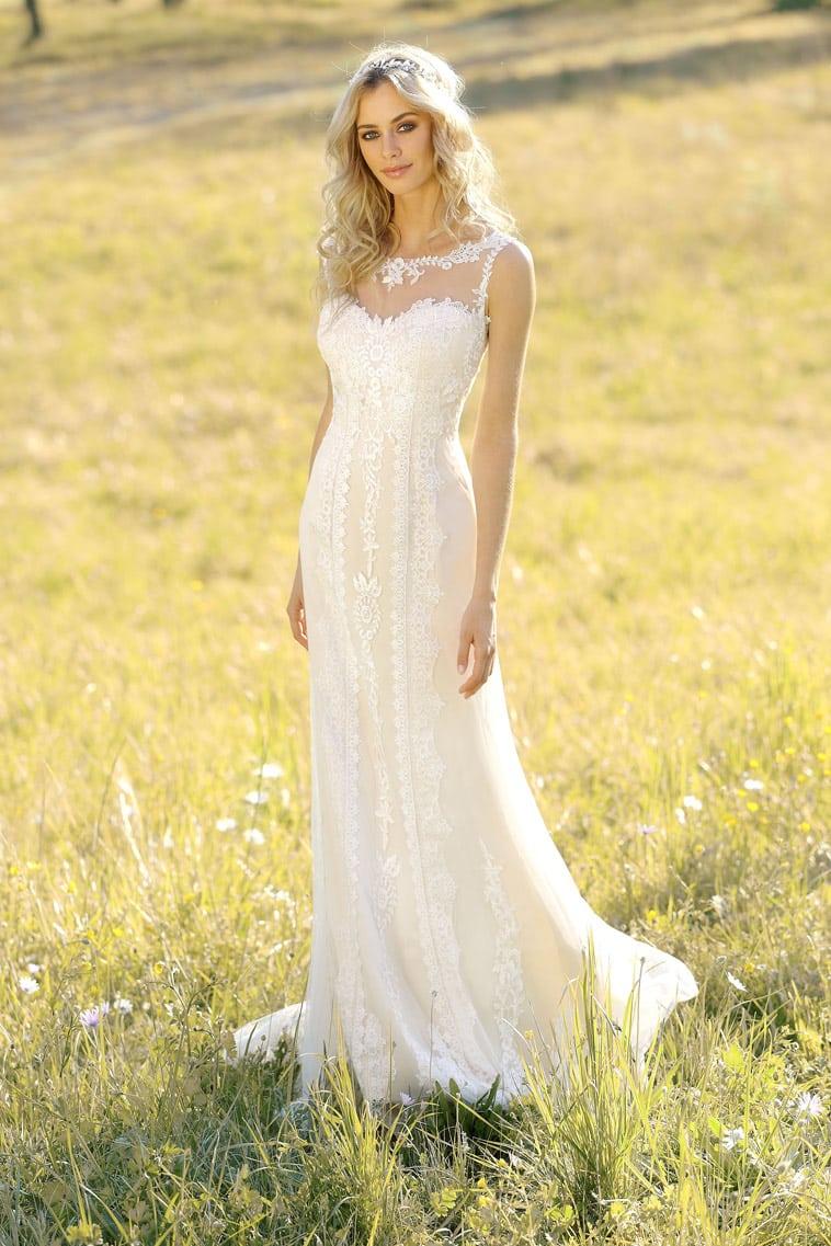 boheme inspireret brudekjole
