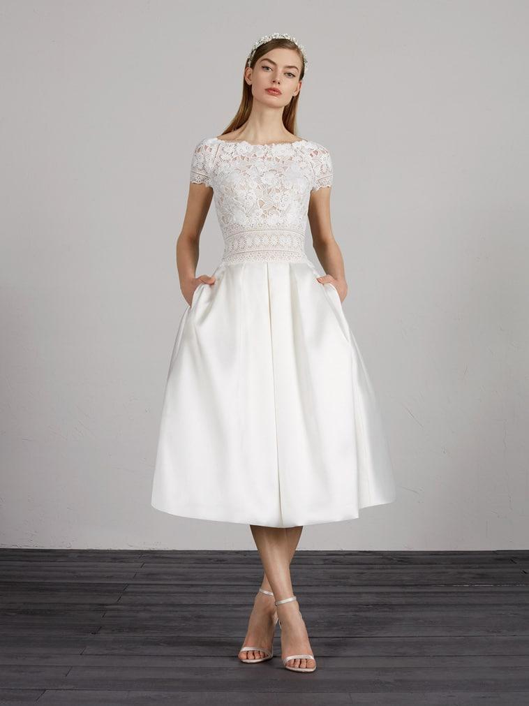 3/4 lang brudekjole