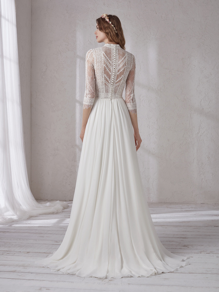 brudekjole i boheme stil
