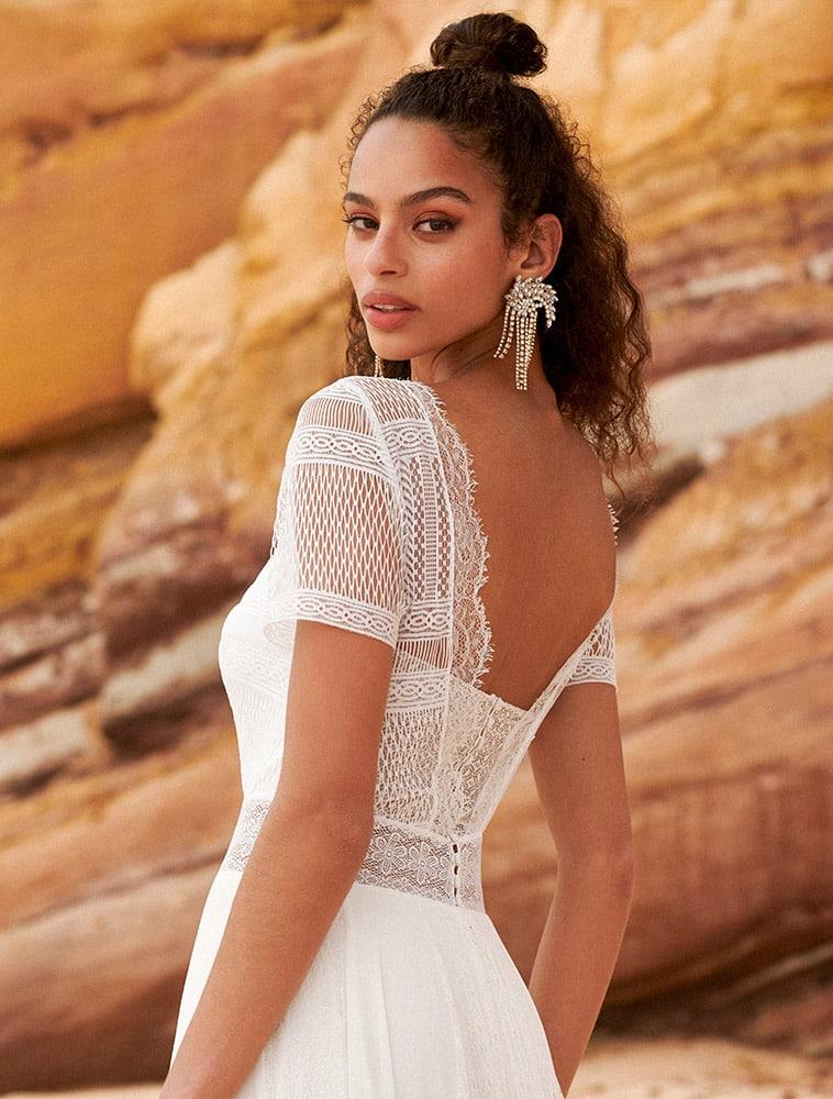 brudekjole top med flotte detaljer