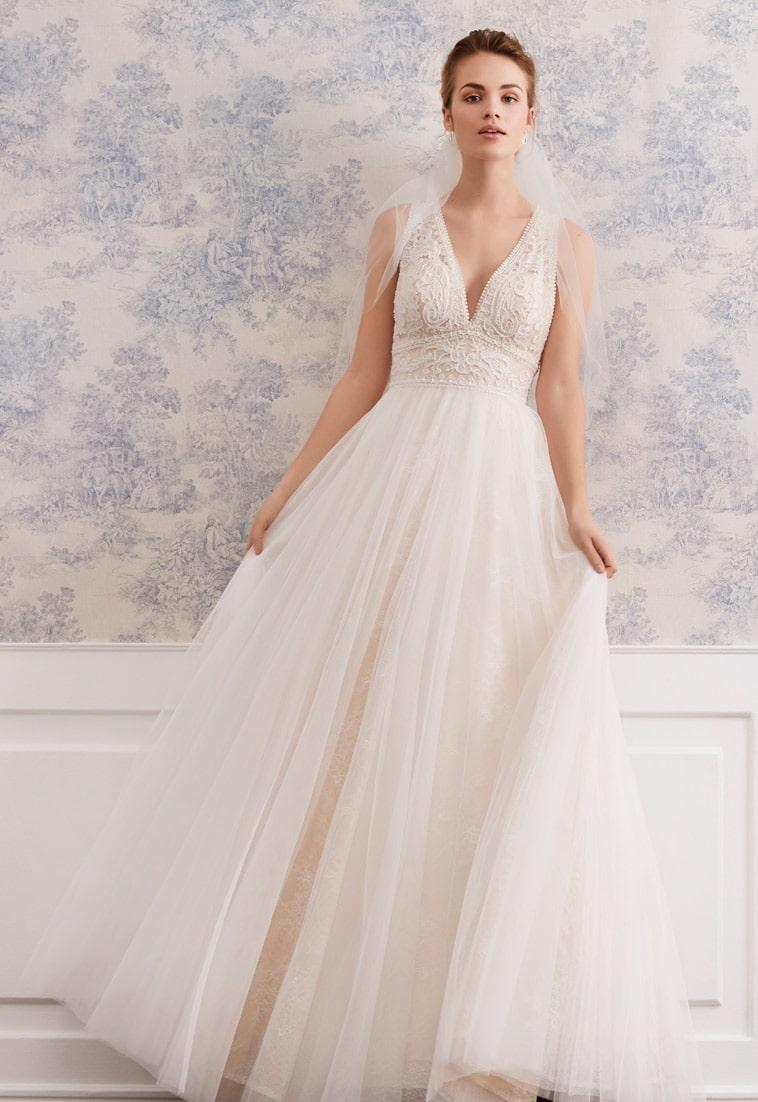 A-line brudekjole med blonder