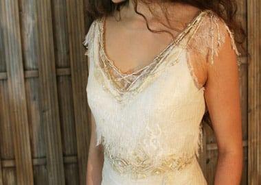 Top på brudekjole