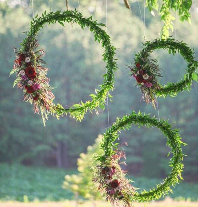 grønne blomster ringe
