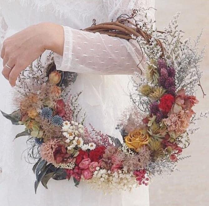 blomster ring som brudebuket