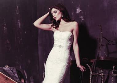 Stropløs brudekjole