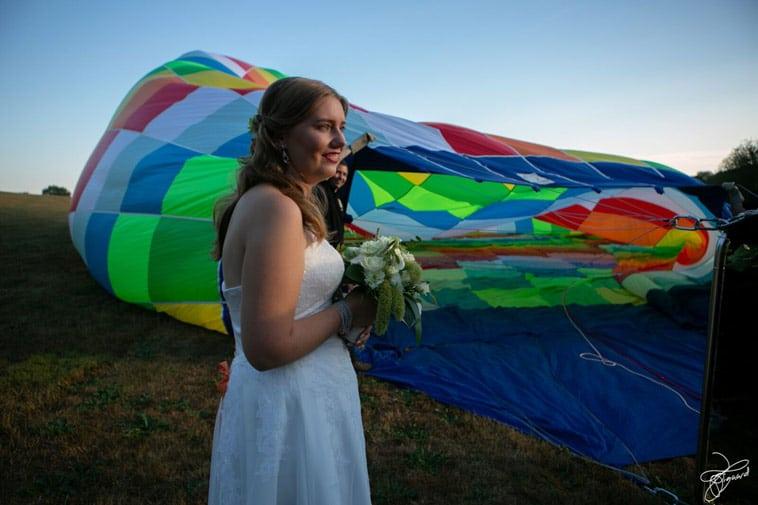 brud-ved-varmluftballon
