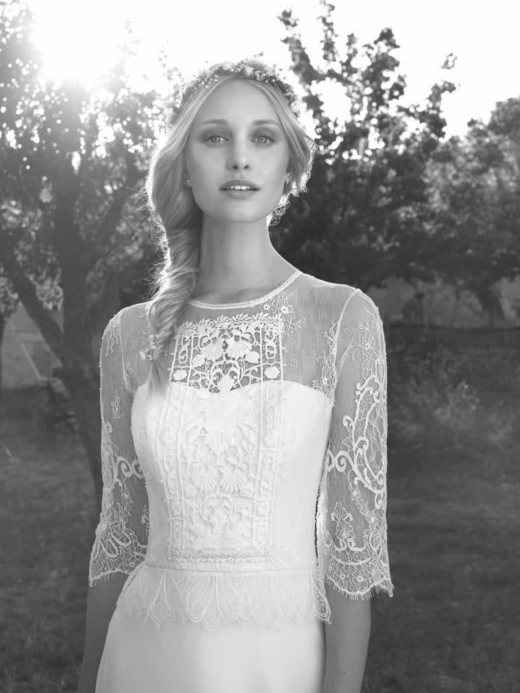 Brudekjole i boho stil