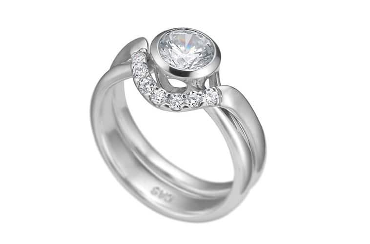 hvidguldring og companion ring