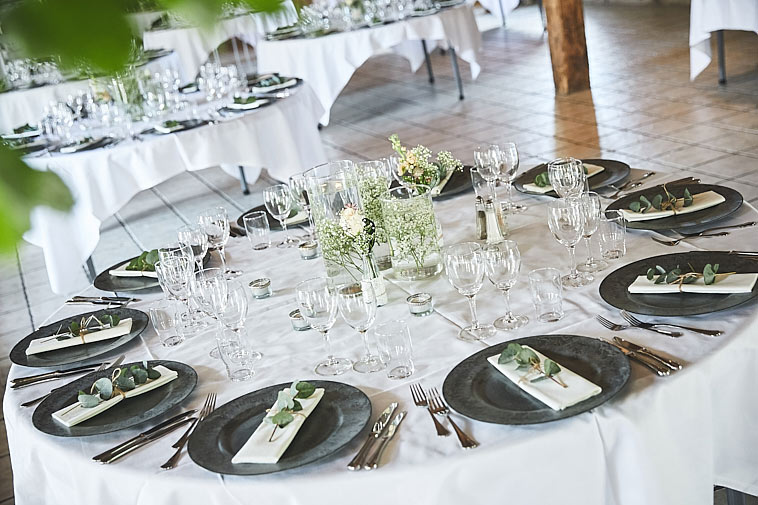 bryllupsborddækning