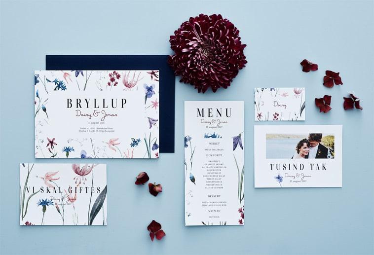 papirvarer til bryllup