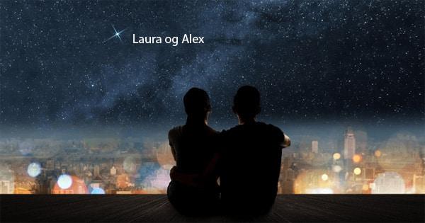 par der sidder og kigger på stjerner