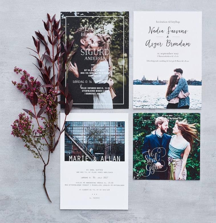 bryllupsinvitationer