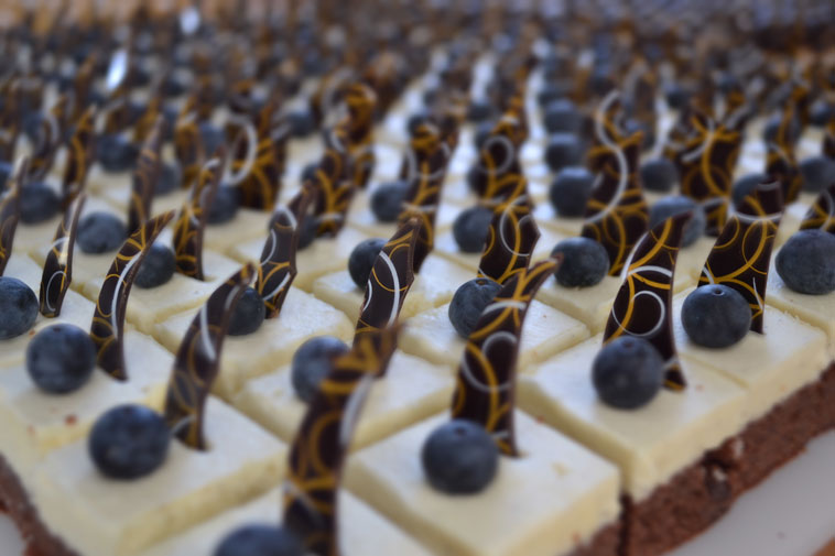små stykker kage