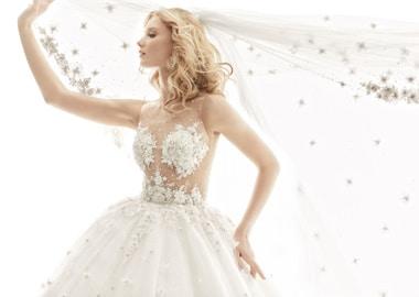 Brudekjole med bling