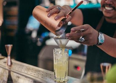 Bartender mixer drinks
