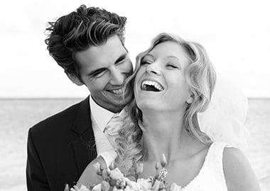 Brudepar der griner