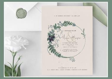 Bryllupsinvitationer med blomstermotiv